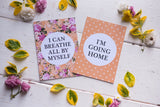 Bright Floral Premature Baby Journey Cards ® DD026