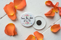 Custom Order for Save the Date Magnets - Floral Arrow