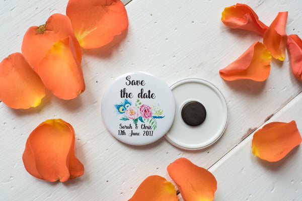 Custom Order for Save the Date Magnets - Floral