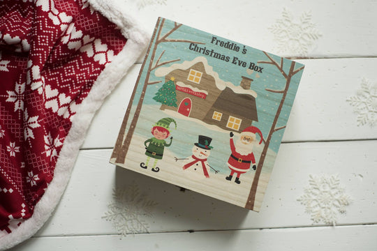 Personalised Printed Xmas Eve Box - Santa's Workshop DD163