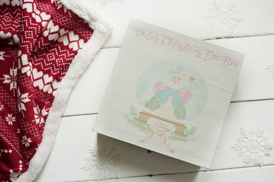 Personalised Printed Xmas Eve Box - Fairy Snow Globe DD162