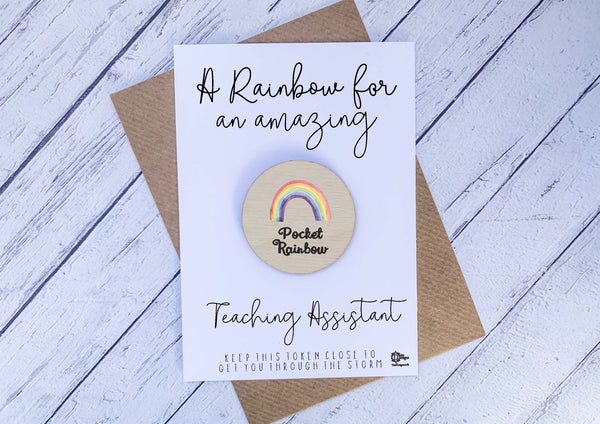 Wooden pocket rainbow for an amazing Teaching Assistant DD2213