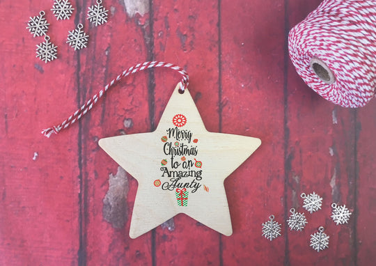 Hanging Star - Merry Christmas to an Amazing Aunty DD468