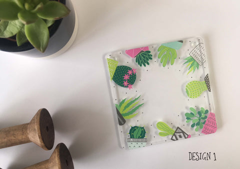 Cactus Coasters - Choice of 4 Designs DD558