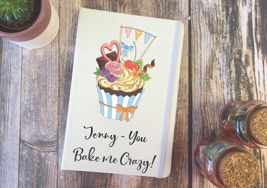 Personalised Lined Notepad - Cake DD279