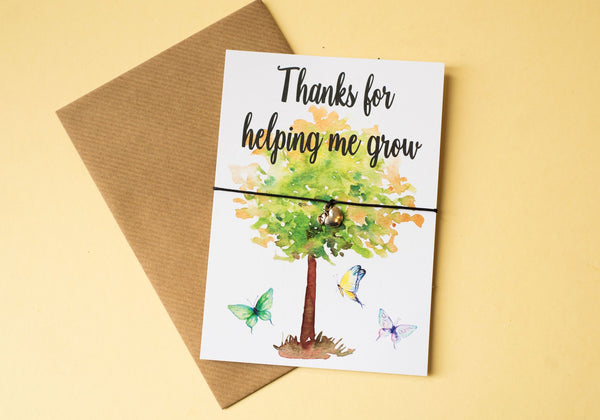 DD110 A6 postcard print - Helping Me Grow
