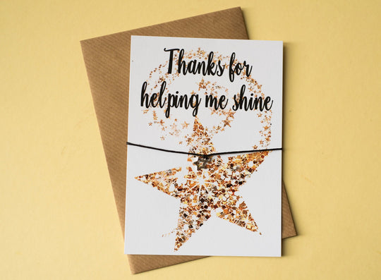 DD109 A6 postcard print - Helping Me Shine