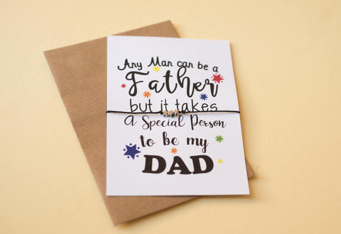 A6 Postcard Print - Special Person to be my Dad - DD123