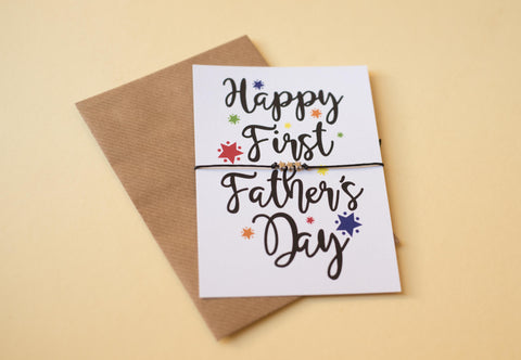 DD385 - A6 postcard print - Happy First Father's Day