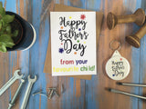 A6 Postcard Print - Happy Father's Day From Your Favourite Child - DD386