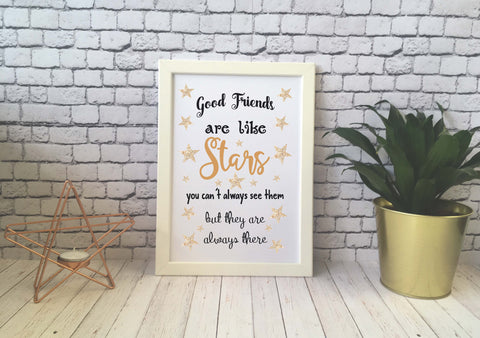 Card Print - Good Friends Are Like Stars - DD526