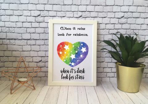 Card Print - Look For Rainbows - DD530