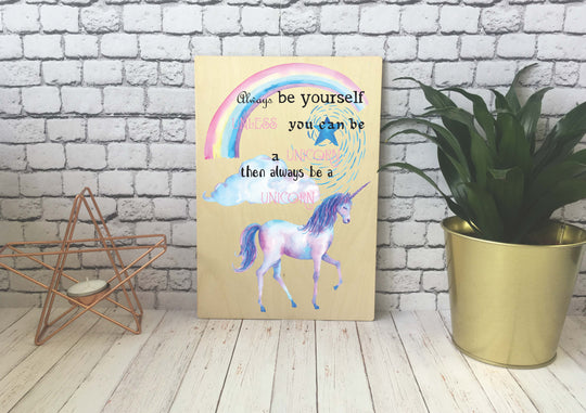 Wooden Print - Unicorn - DD531
