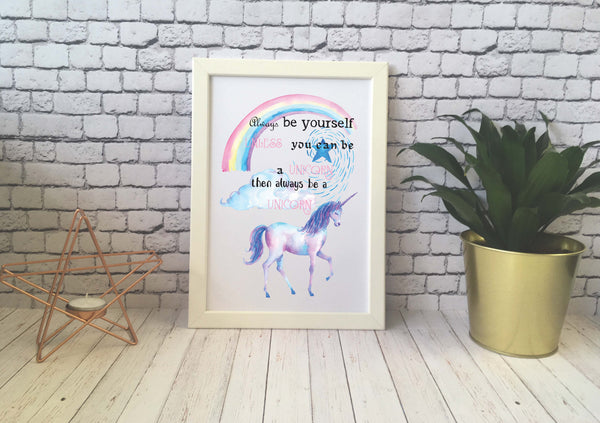 Card Print - Be A Unicorn - DD532