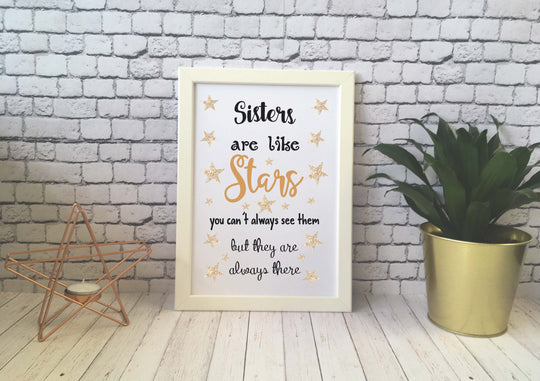 Card Print - Sisters Are Like Stars - DD538