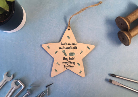 Hanging Star - Dads Are Like Nuts & Bolts - DD523