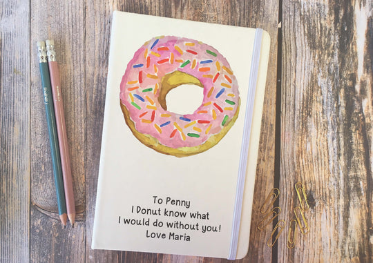 Personalised Lined Notepad - Donut DD282