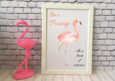 Card Print - Be a Flamingo DD516