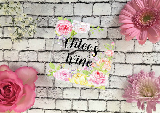 Personalised Coaster - Floral Border - DD348