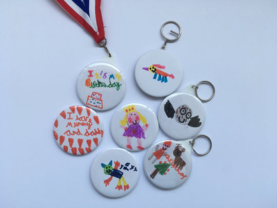 Custom Badges, Magnets, Keyrings, Mirror, Medals & Bottle Opener Keyrings - 58mm