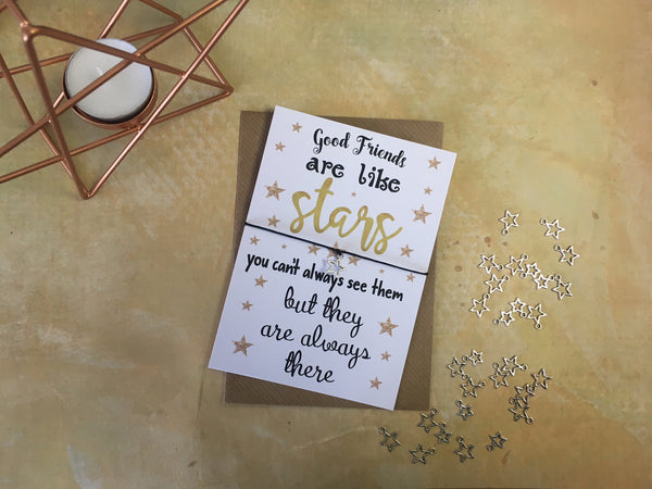 A6 Postcard Print - Good Friends Are Like Stars - DD073