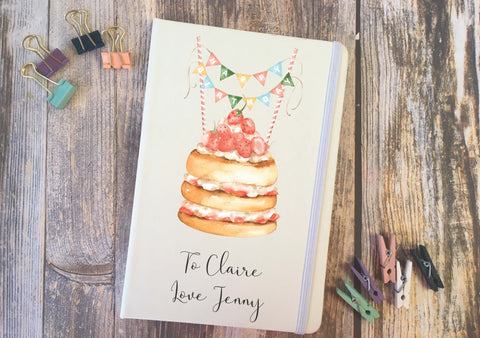 Personalised Lined Notepad - Happy Birthday Cake DD284