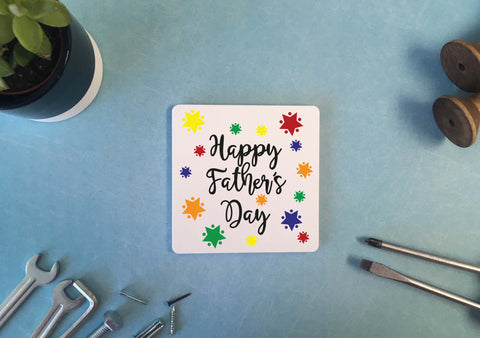 Personalised Coaster - Happy Fathers Day - DD526