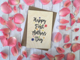 Printed Wooden Wish Bracelet - Happy First Mothers Day  - DD268