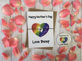 A6 postcard print  - Happy Mothers Day Love Bump -  DD254