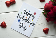 A6 Postcard Print- Happy Valentines Day - Valentines Day - DD258