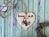 DD401 Wooden Hanging Heart Tropical - Toucan Do It