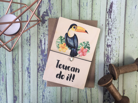DD402 - Printed Wooden Wish Bracelet - Toucan Do It