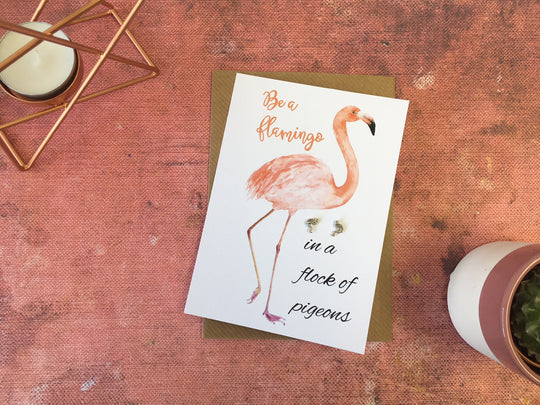 Jewellery Card - Flamingo