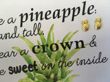Jewellery Card - Pineapple