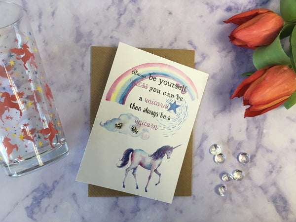 Jewellery Card - Be a Unicorn