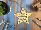 Hanging Star - Happy Fathers Day Love Bump - DD422