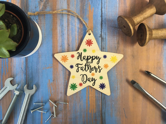 Hanging Star - Happy Fathers Day - DD423