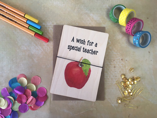 Wooden Wish Bracelet Teacher Wish Apple DD207