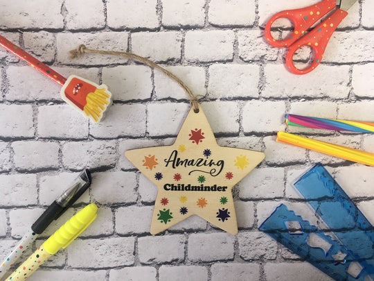 Wooden Hanging Star - Bright Stars Amazing Childminder DD451