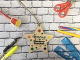 Wooden Hanging Star - Bright Stars Amazing Nursery Teacher DD452