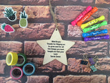 Wooden Hanging Star - Super Teacher DD455
