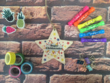 Wooden Hanging Star - Super Childminder DD457