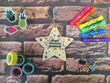 Wooden Hanging Star - Super Teaching Assistant DD456