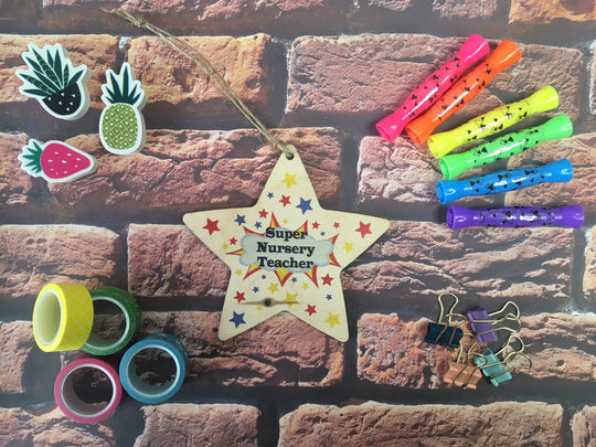 Wooden Hanging Star - Super Nursery Teacher DD458
