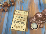 Printed Wooden Wish Bracelet - You can do Whatever You want to do - DD465