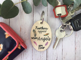 Wooden Keyring - Feathers Appear DD230