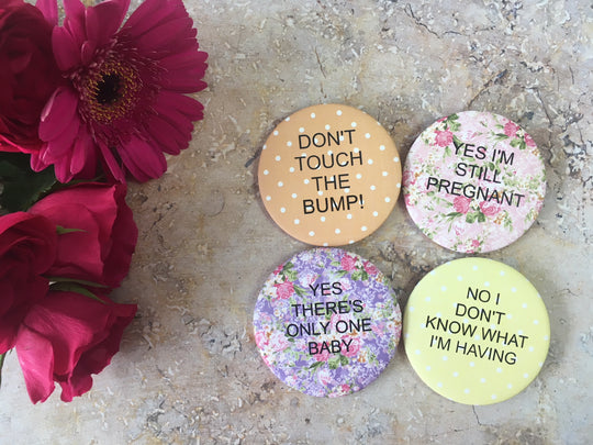 Bright Floral Alternative Pregnancy Badges DD048
