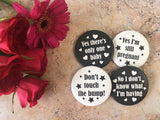 Monochrome Alternative Pregnancy Badges DD047