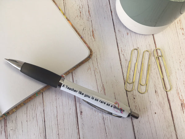 Personalised Pen - A Teacher Like You Is As Rare As A Unicorn- DD564