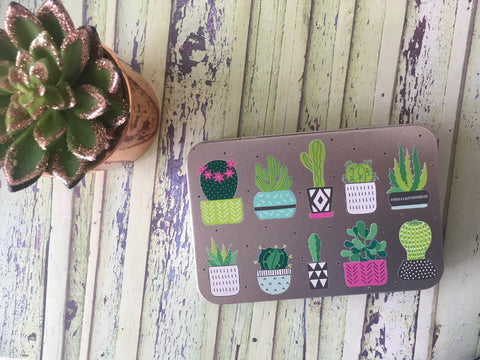 Personalised Metal Tin - Cactus Succulent Metal Tin - DD579